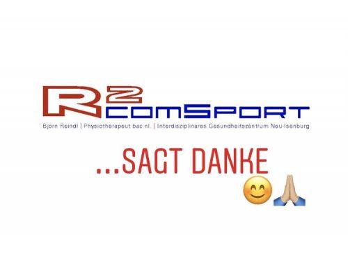R2comsport sagt Danke!!!